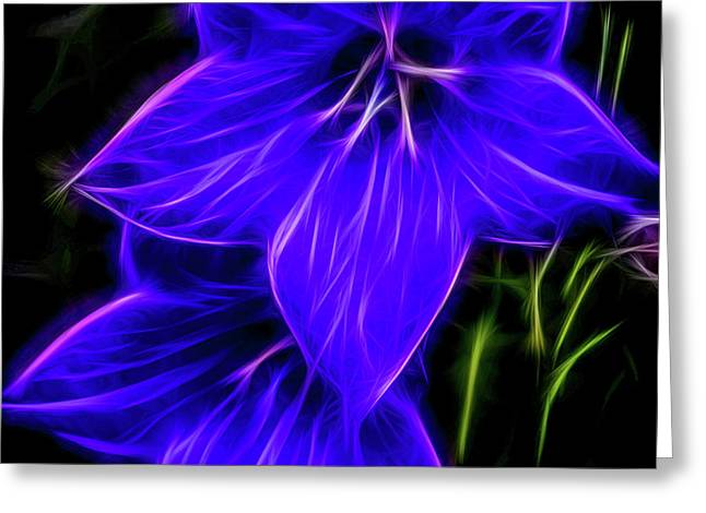 Purple Passion Greeting Card by Joann Copeland-Paul