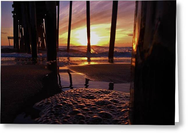 Kite Greeting Cards - Purple Pier Perfection 2012 Greeting Card by Mark Lemmon