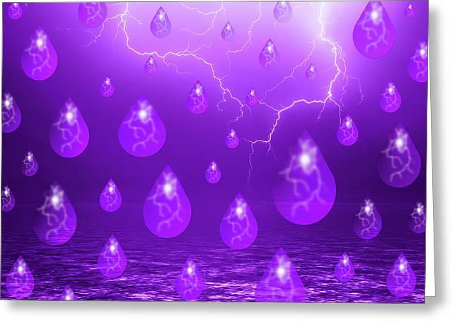 Purple Rain Greeting Card by Shane Bechler