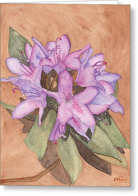 Rhodie Greeting Cards - Purple Rhododendron Greeting Card by Ken Powers