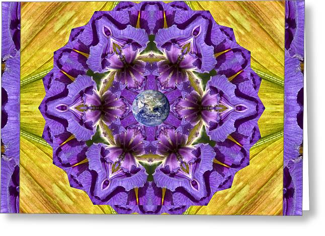 Purple Royalty Greeting Card by Bell And Todd