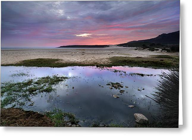 Purple Sky Greeting Card by Guido Montanes Castillo