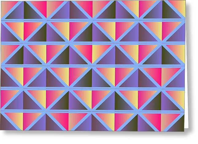 Geometric Art Greeting Cards - Purple triangles Greeting Card by Gaspar Avila