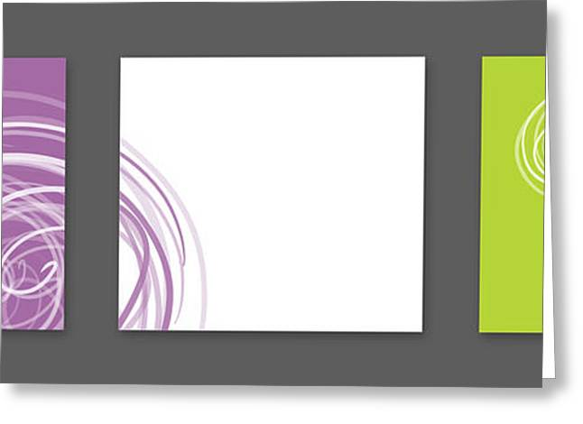 Purple twirl Greeting Card by Nomi Elboim