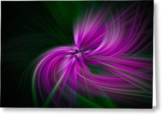Walden Pond Greeting Cards - Purple Twirls Greeting Card by Noah Katz