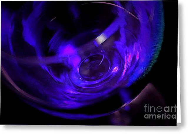 Purple Wine Greeting Card by Krissy Katsimbras