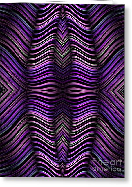 Abstract Shapes Greeting Cards - Purple Zebra Greeting Card by John Edwards