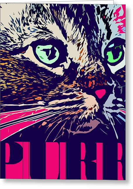Purr Greeting Card by David G Paul