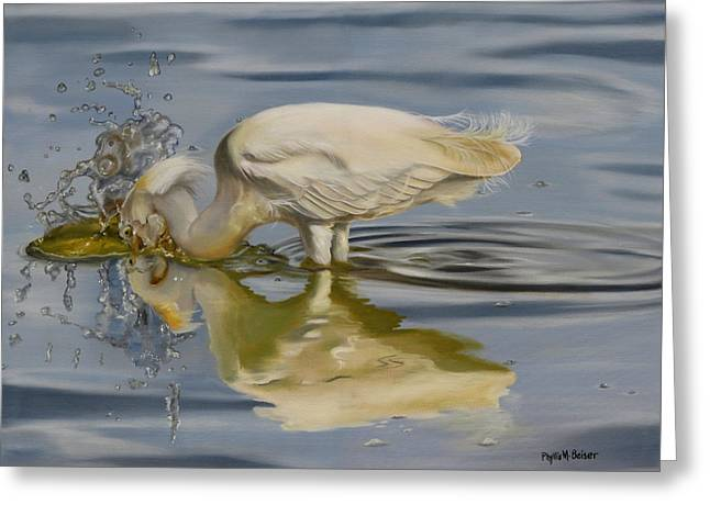 Hunting Bird Greeting Cards - Pursuit Greeting Card by Phyllis Beiser
