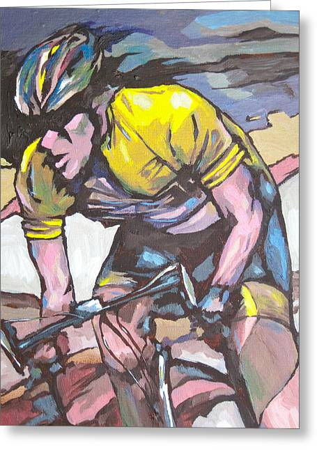 Athletic Sport Greeting Cards - Pushing it to the Limit Greeting Card by Sandy Tracey