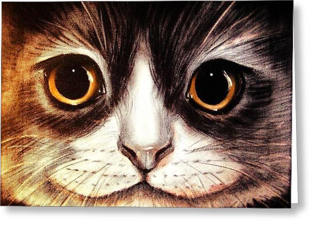 Pussycat Greeting Card by Anastasis  Anastasi