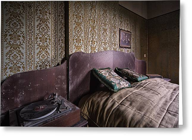 Old Home Place Greeting Cards - Put On A Record - Urban Decay Greeting Card by Dirk Ercken