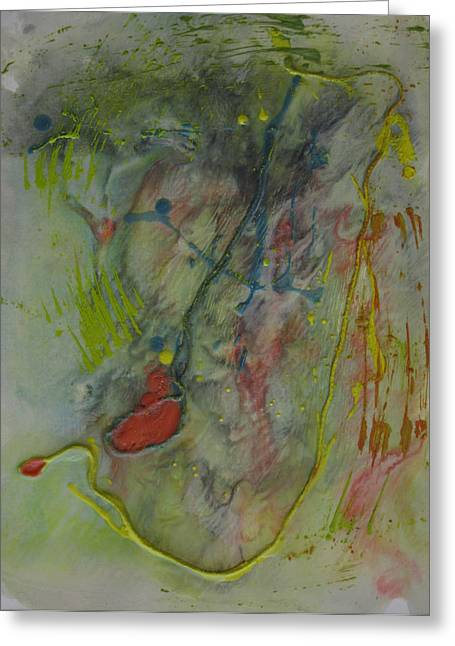Wax Mixed Media Greeting Cards - Putter Greeting Card by Sherry Haney