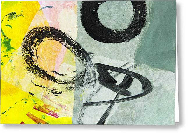 Expressive s Mixed Media Greeting Cards - Puzzle 3 Greeting Card by Elena Nosyreva