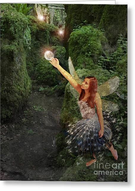 Photo Art Gallery Greeting Cards - Puzzlewood Fairy Greeting Card by Patricia Ridlon
