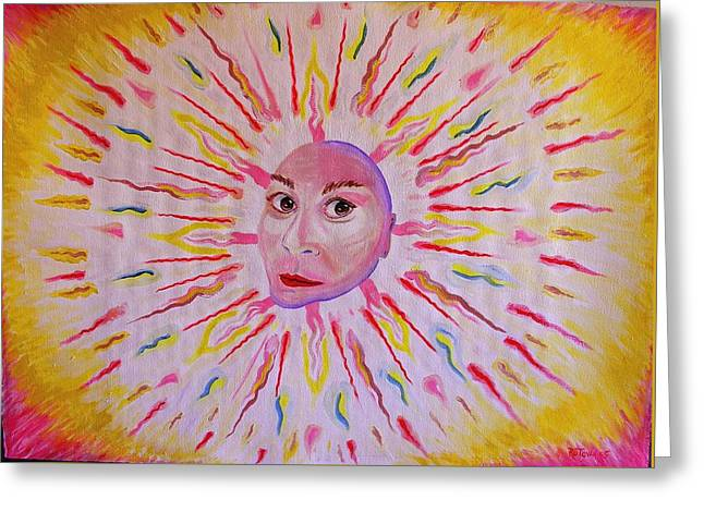 Pencil On Canvas Photographs Greeting Cards - Pweet Sun Greeting Card by Ru Tover