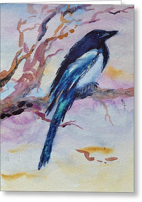 Flying Animal Greeting Cards - Pye I Greeting Card by Beverley Harper Tinsley