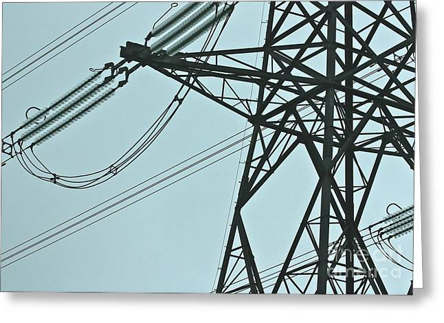 Masts Greeting Cards - Pylon Greeting Card by Terri  Waters