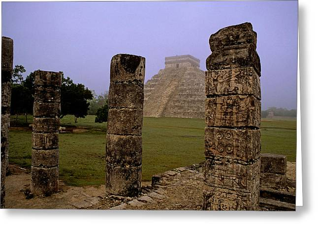 Mayans Greeting Cards - Pyramid at Chichen Itza Greeting Card by Cliff Wassmann