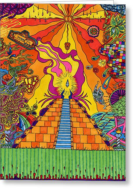 Pyramid Greeting Card by Evan Purcell