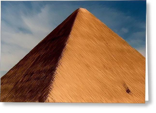 Pyramids Greeting Cards - Pyramid Greeting Card by Kathy Franklin