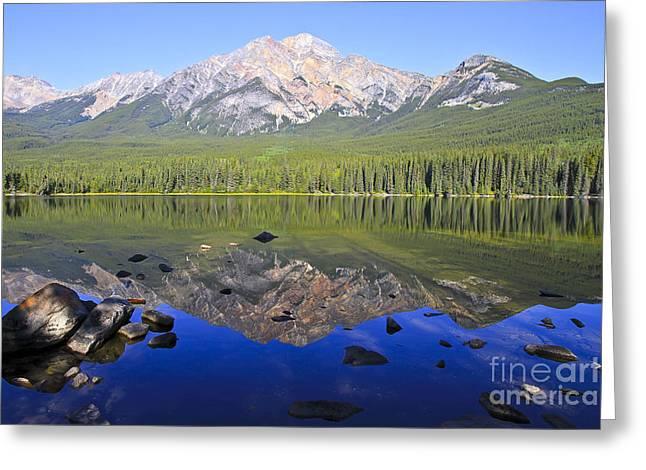 Pyramid Lake Reflection Greeting Card by Teresa Zieba