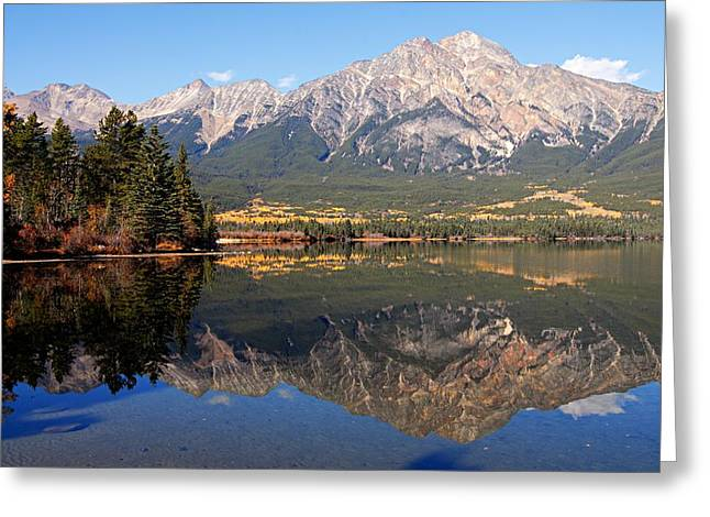 Lhr Images Greeting Cards - Pyramid Mountain and Pyramid Lake 2 Greeting Card by Larry Ricker