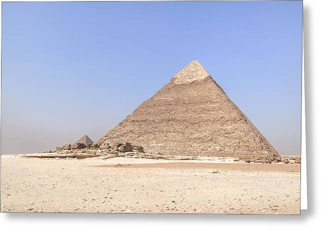 Pyramids Photographs Greeting Cards - Pyramid of Khafre - Egypt Greeting Card by Joana Kruse