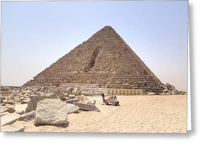 Pyramid Of Menkaure - Egypt Greeting Card by Joana Kruse