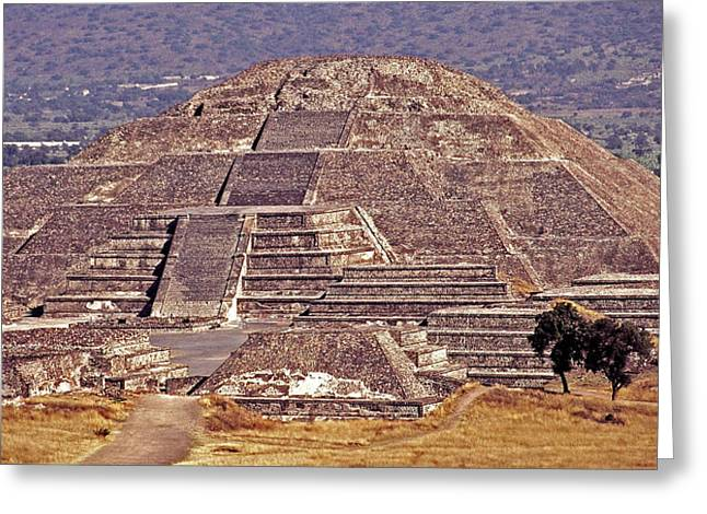 Best Sellers -  - Stepping Stones Greeting Cards - Pyramid of the Sun - Teotihuacan Greeting Card by Juergen Weiss