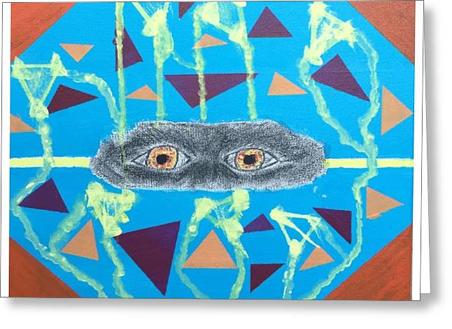 Pyramids Drawings Greeting Cards - Pyramid Schemes Greeting Card by Vincent Spriggs II