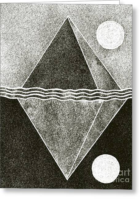 Pyramid Space And Time Greeting Card by Norma Appleton