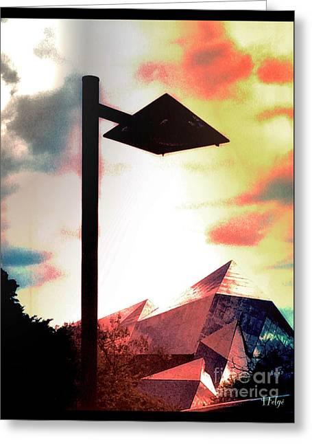 Pyramids Greeting Cards - Pyramidal Greeting Card by Helge