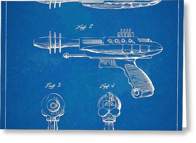 Pyrotomic Disintegrator Pistol Patent Greeting Card by Nikki Marie Smith