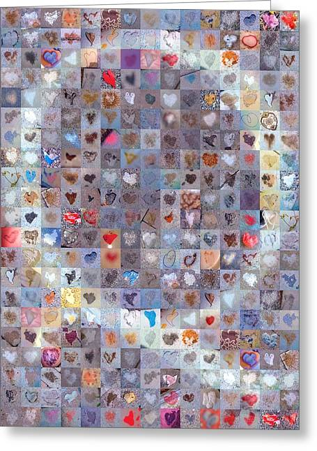 Love Letter Greeting Cards - Q in Confetti Greeting Card by Boy Sees Hearts