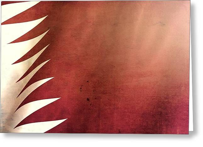 Qatar Grunge Flag Greeting Card by Dan Sproul