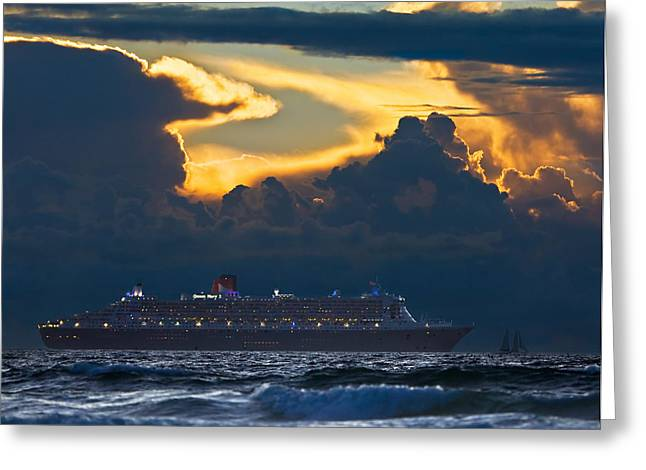 Qm 2 - Cape Town 2010 Greeting Card by Basie Van Zyl