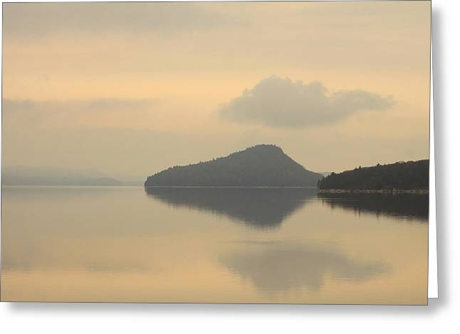 Quabbin Reservoir Greeting Card by John Burk