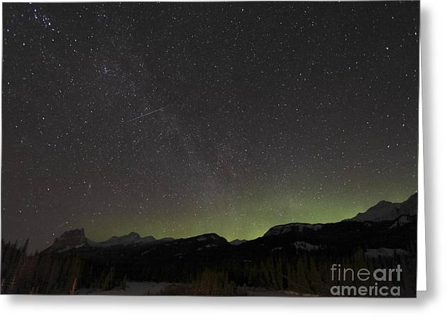 Northern Polar Lights Greeting Cards - Quadrantid Meteor Shower, Milky Way Greeting Card by Yuichi Takasaka
