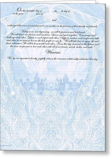Quaker Ketubah To Fill Greeting Card by Sandrine Kespi