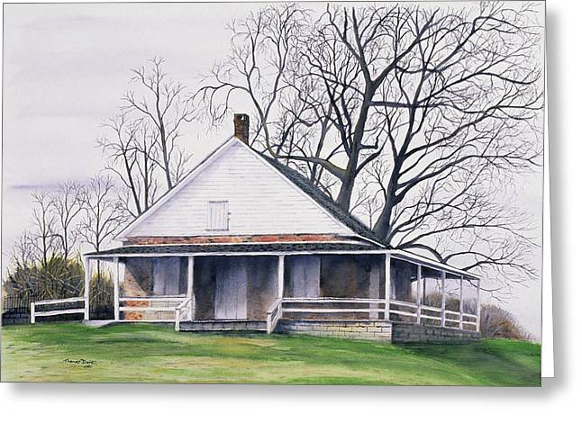 Quaker Meeting House Greeting Card by Tom Dorsz