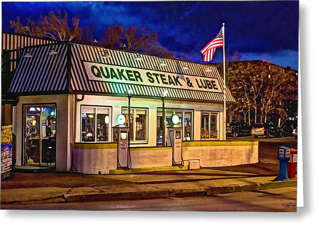 Quaker Steak And Lube Greeting Card by Skip Tribby