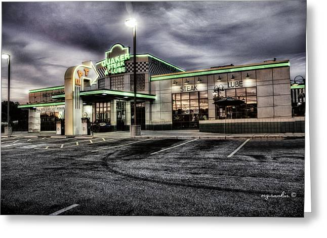 Lube Greeting Cards - Quaker Steak_Valley View Greeting Card by Michael Rankin