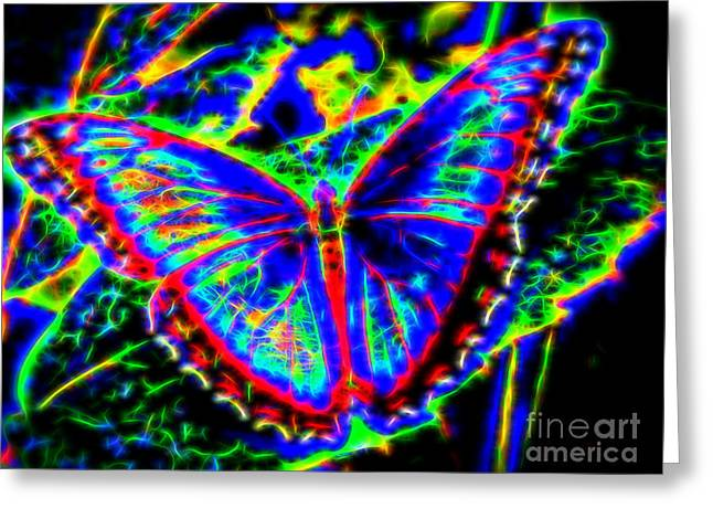Quantum Butterfly Greeting Card by Kasia Bitner