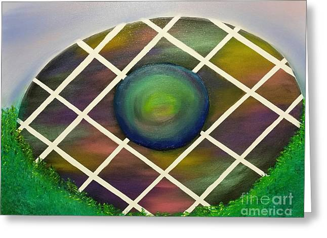 Technical Paintings Greeting Cards - Quantum Easter Egg Greeting Card by Roxane Gabriel