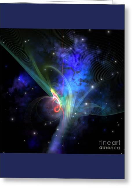 Quantum Filament Greeting Card by Corey Ford