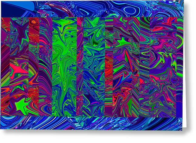 Abstract Movement Greeting Cards - Quark Wars I Greeting Card by Phillip Mossbarger