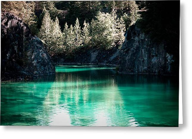 Quarry Waters Greeting Card by Danielle Silveira