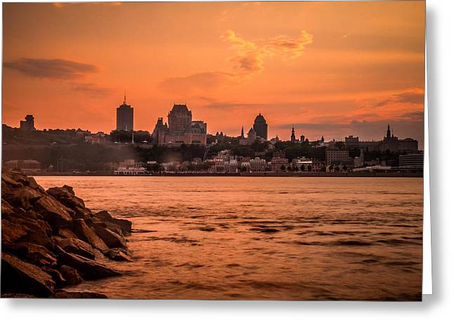 Farries Greeting Cards - Quebec City Greeting Card by Nathan Masters