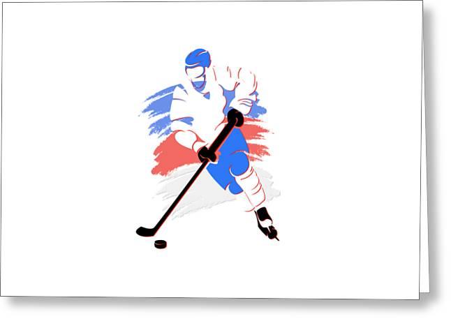 Ice-skating Greeting Cards - Quebec Nordiques Player Shirt Greeting Card by Joe Hamilton
